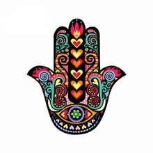 Funny Cartoon Hamsa Hand Car Bumper Stickers Vinyl Material Decal Laptop Windows Motorcycle Sunscreen and Waterproof Vinyl Decal