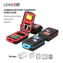 Lensgo D910 funda batería cámara para Canon LP E6N/LP E17/Sony NP FW50/NP FZ100, tarjeta SD CF XQD soporte de almacenamiento impermeable