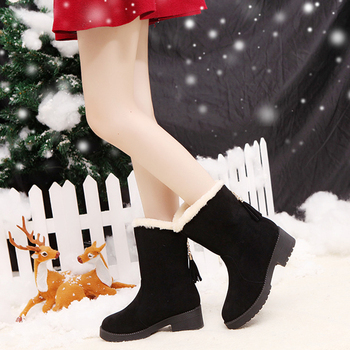 2019 Women Boots Winter Shoes Plus Size Hot Platform Female Warm Botas Mujer 2019 Booties Ankle For Women Snow Boots Black