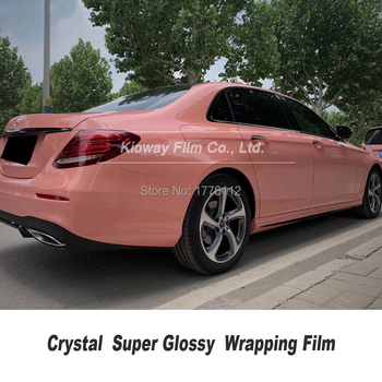 Newest color  dark pink Glossy vinyl wrap Automotive wrapping film Car wrapping Foil high end