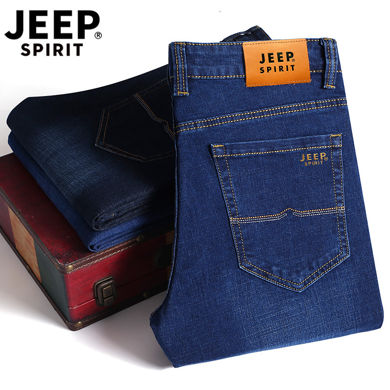 Brand Genuine Product Jeans Men's Slim Fit Elasticity Nian Jeep MEN'S Jeans Spring Summer