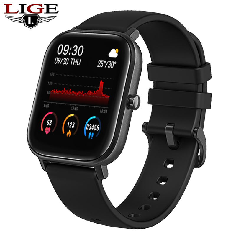 LIGE P8 1.4 inch Smart Watch Men Full Touch Fitness Tracker Blood Pressure Sports Smart Clock Women Smart watch for Android ios