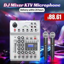 LEORY F 12T USB аудио DJ микшер KTV микрофон Nono вход 2 беспроводной микрофон 48 В фантомное питание для KTV