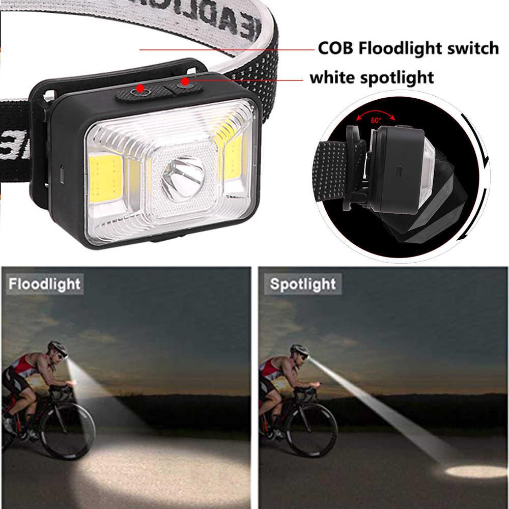 Pocketman phare Super lumineux USB phare Rechargeable avec batterie intégrée lumière rouge lampe frontale étanche lampe frontale
