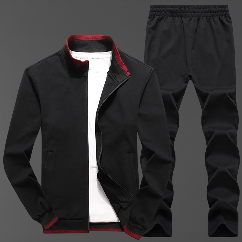 Custom Printing DIY Your Logo Mens Tracksuit Customized Text Embroidery Sweatsuit  2 Piece Set Heat Transfer Print Service 4XL