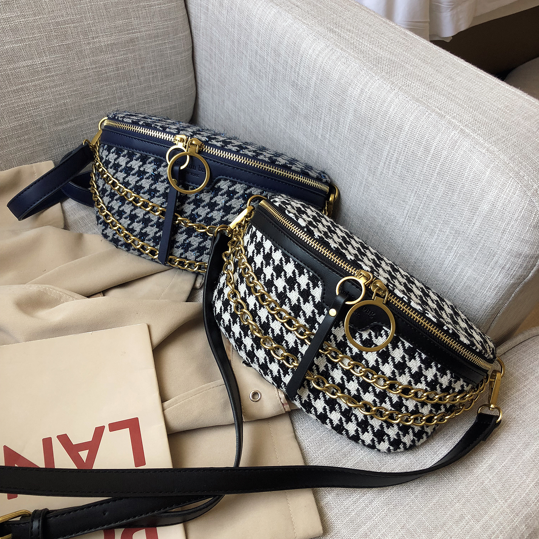 Fashion Women Fanny Pack Luxury Woolen Velvet Waistbag Handbag Mini Shoulder Bag For Ladies Designer Travel Bags Hot Sale Purse