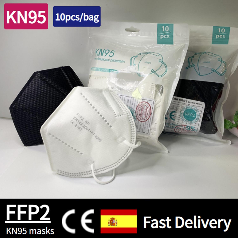 Kn95 máscaras ffp2 máscara 5 camadas boca máscara reutilizável kn95 respirador fpp2 máscara protetora mascarillas máscara ce