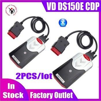 2PCS/Lot 2020 Latest NEW VCI diagnostic tool Bluetooth 2016.R0 keygen VD DS150E CDP for delphis obd2 car&truck Scanner fast ship