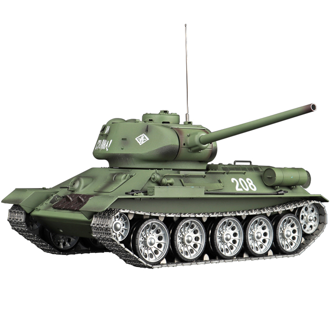 1:16 Soviet T-34 Medium Tank 2.4G Remote Control Model Military Tank with Sound Smoke Shooting Effect - Metal Ultimate Edition