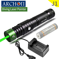 ARCHON J1 100m Diving Laser Pointer Green Laser Pointers Torch Powerful Led Tactical Laser Flashlight 18650 Battery Optional