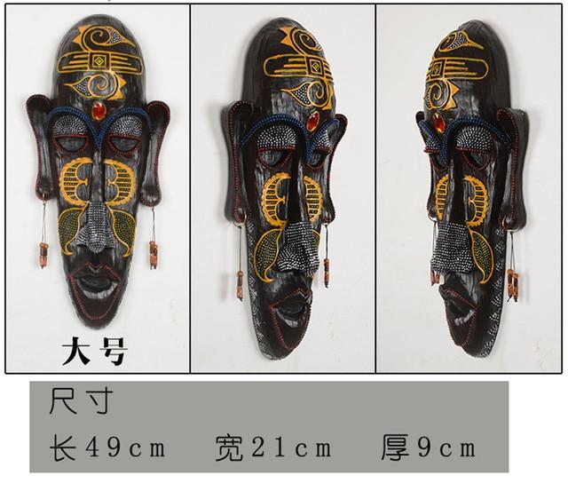 [MGT, masques africains doriginalité Europe | Résine, décoration murale dhôtel et de maison moderne suspendue, statues décoratives artisanales