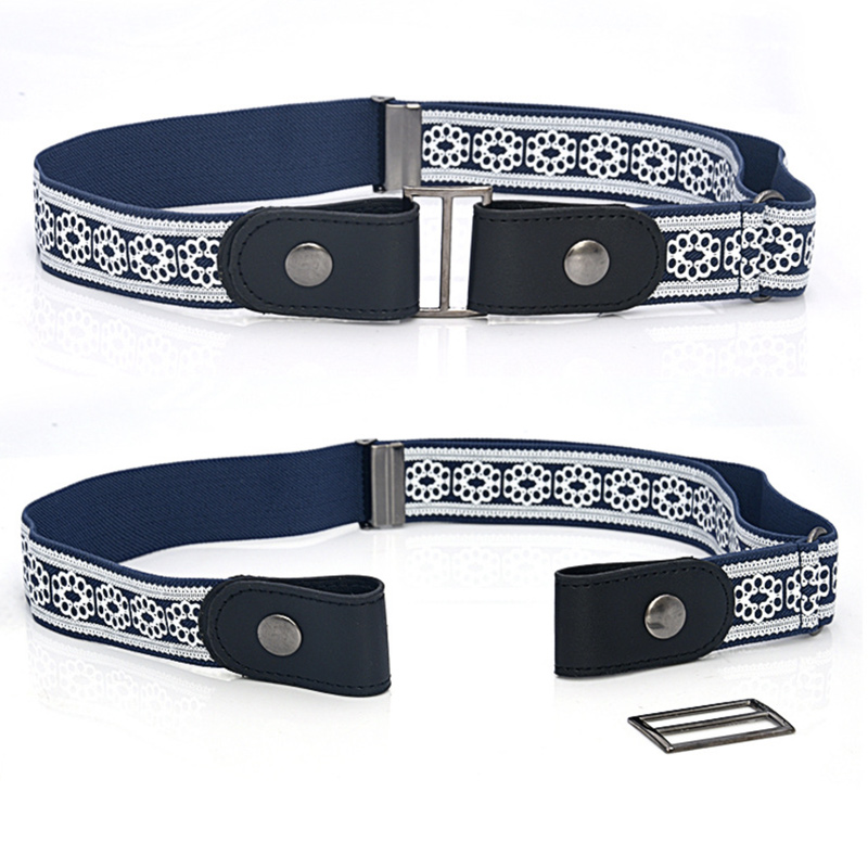 Leather Waist Belt Without Buckle Easy Belts For Women Men Cinturon Mujer Jeans Trousers Stretch Invisible Hidden Elastic Secret