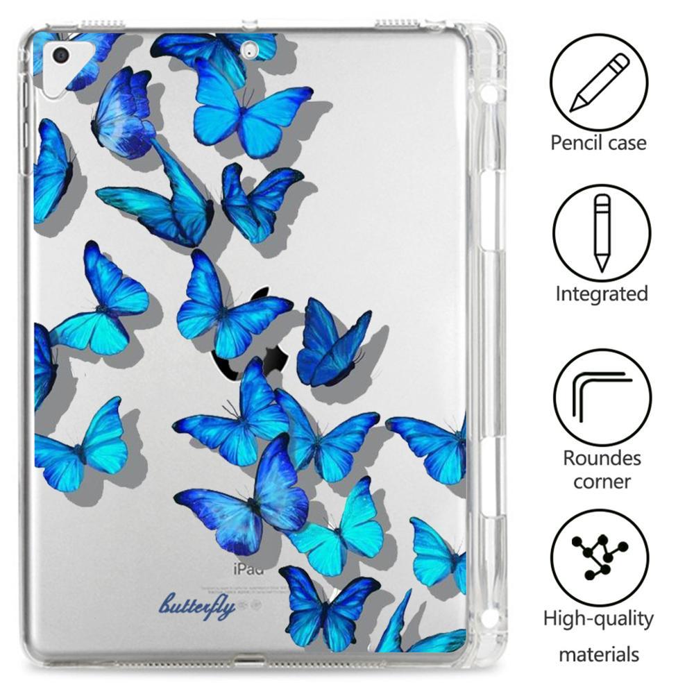 Custodia morbida in Silicone per ipad pro 11 custodia 2020 tablet Cover farfalla carina per ipad Air 4 Air 2 3 ipad custodia di sesta generazione Mini 1 2 3