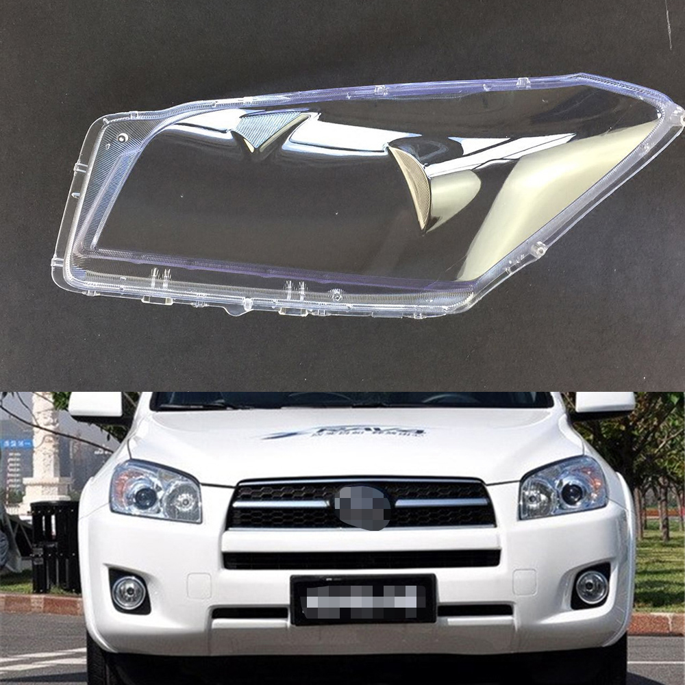 For Toyota Rav4 2009 2010 2011 2012 Headlamp Cover Car Headlight Lens Replacement Clear Glass Front Auto Shell Cover