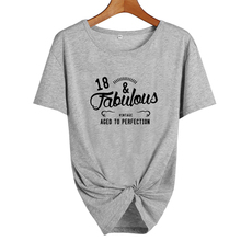 18 Years and Fabulous Aged to Perfection Funny Womens Birthday Tshirt Ladies T