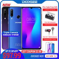 DOOGEE N20 Mobilephone に指紋 6.3 インチ FHD + ディスプレイ 16MP トリプルバックカメラ 64 ギガバイト 4 ギガバイト MT6763 オクタコア 4350mAh 携帯電話 LTE