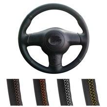 Diy personalizado volante do carro capa para toyota corolla 2004-2006 caldina 2002-2007 rav4 (eua) 2005 envoltório de direção de couro automático