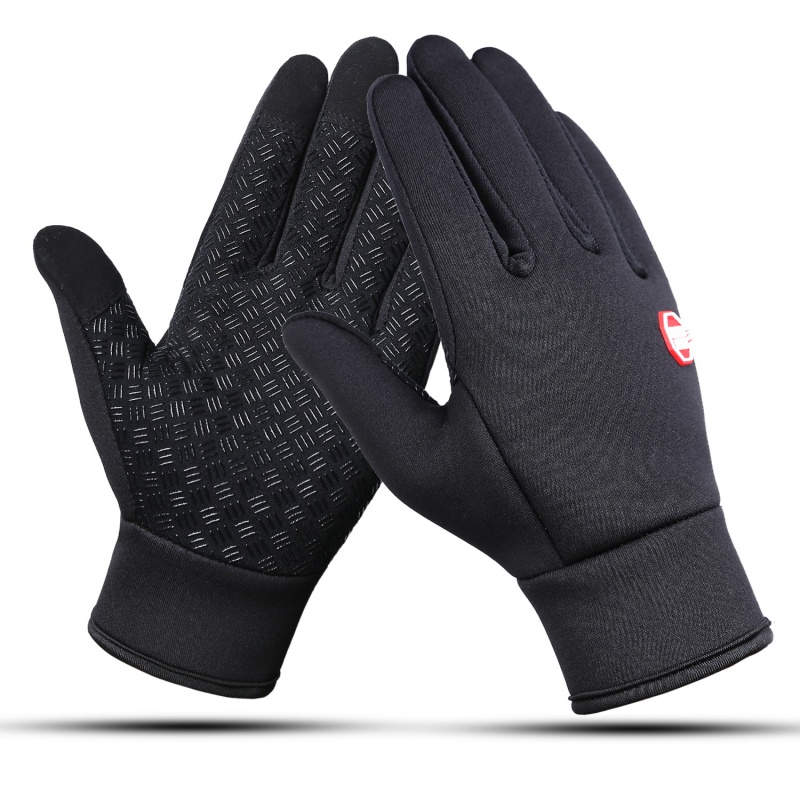 Men Women Outdoor  Cycling Snowboard Waterproof Fleece Ski Gloves Wind-proof Thermal Touch Screen Cycling Snowboard Gloves