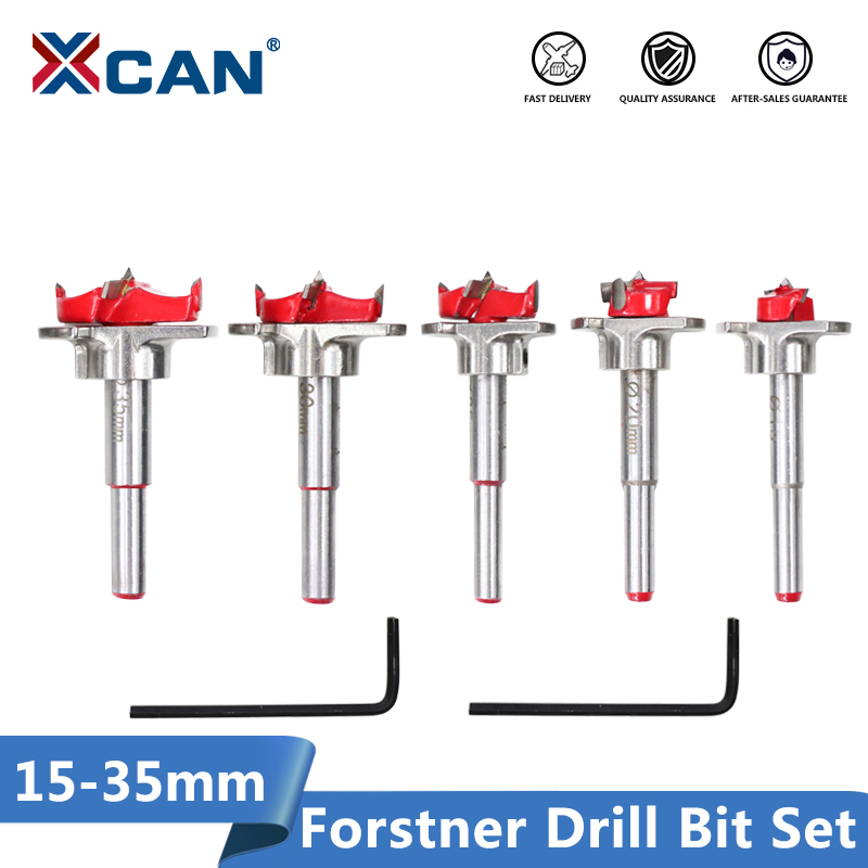 XCAN 1 Piece Diameter 35mm Adjustable Carbide Drill Bits Hinge Hole Opener Boring Bit Tipped Drilling Tool Woodworking Cutter