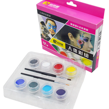 8 Colors Face Body Paint Kits Halloween Christmas Makeup Non Toxic Paint colopaint 8 colors face painting kits parties makeup non toxic paint 8 vibrant colors with brushes for kids face make up
