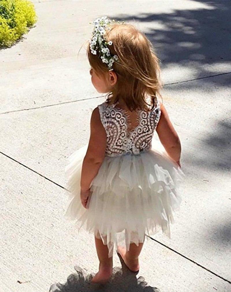 Summer Girl Dress White Scallop Girls Little Girls Princess Dress Tutu Fluffy 2 3 4 5 6 Years Children Casual Wear Kids Clothes 4