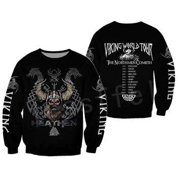 Tessffel Unisex Vikings Tattoo Viking Warriors NewFashion Harajuku MenWomen HipHop 3DPrint zipper/Sweatshirts/Hoodies/Jacket s11 2