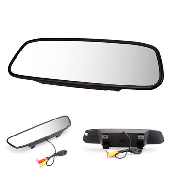 Hot 5 Inch Car Rearview Mirror Monitor LCD Video Rear View Camera Auto Parking Assistance LED Night Vision Reversing for Cars