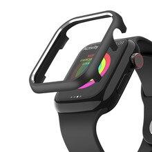 Correas 용 커버 Apple Watch 38mm 40mm 42mm 44mm Apple Watch 시리즈 용 금속 보호 링 쉘 SE 6 5 4 3 2 1 Case Coque