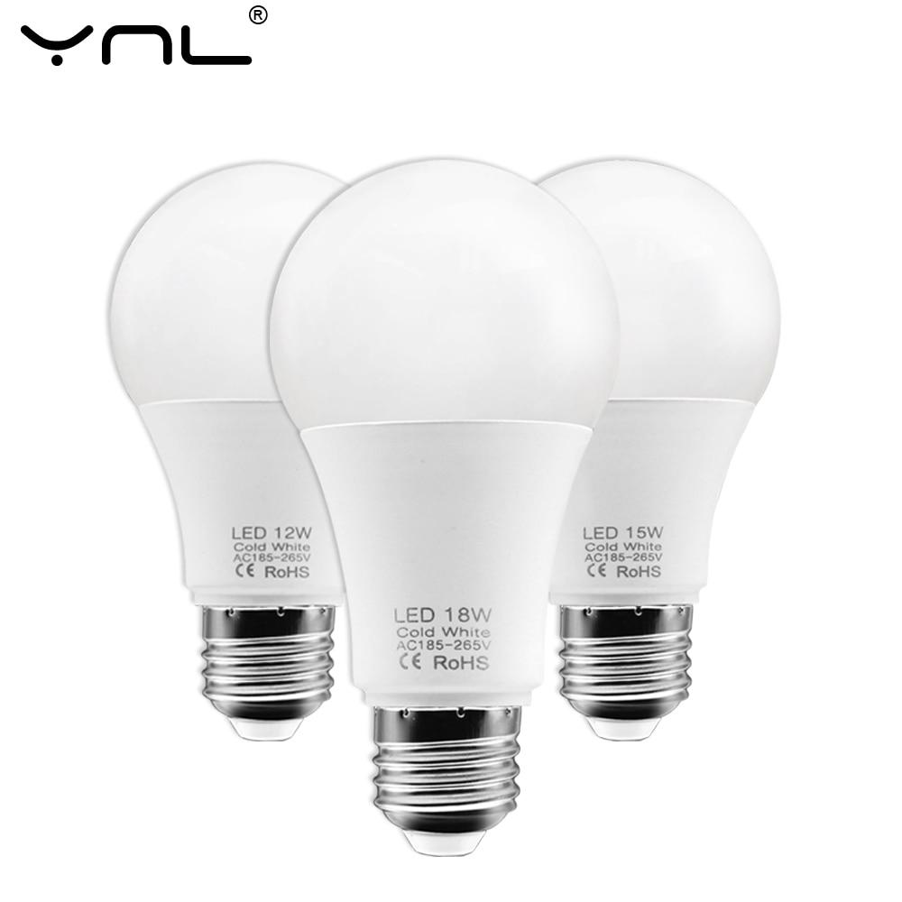 E27 LED Bulb Lamps 220V 3W 6W 9W 12W 15W 18W Bombillas LED Light Bulb Spotlight Cold Warm White Bombillas Lamparas Table Lamp