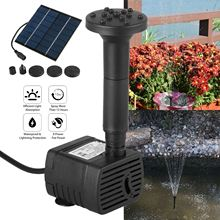 7V Solar Powered Fountain Water Pump Connect Tube With Nozzles Solar Birdbath Fountain Pump For Garden Waterfalls Pond Fish Tank 7v solar powered fountain water pump connect tube with nozzles solar birdbath fountain pump for garden waterfalls pond fish tank