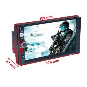 """Image 2 - Podofo autorradio 2 Din con reproductor MP5 y pantalla táctil de 7 """", Android 8,1, Bluetooth, MirrorLink, para Nissan, Toyota, Hyundai"""