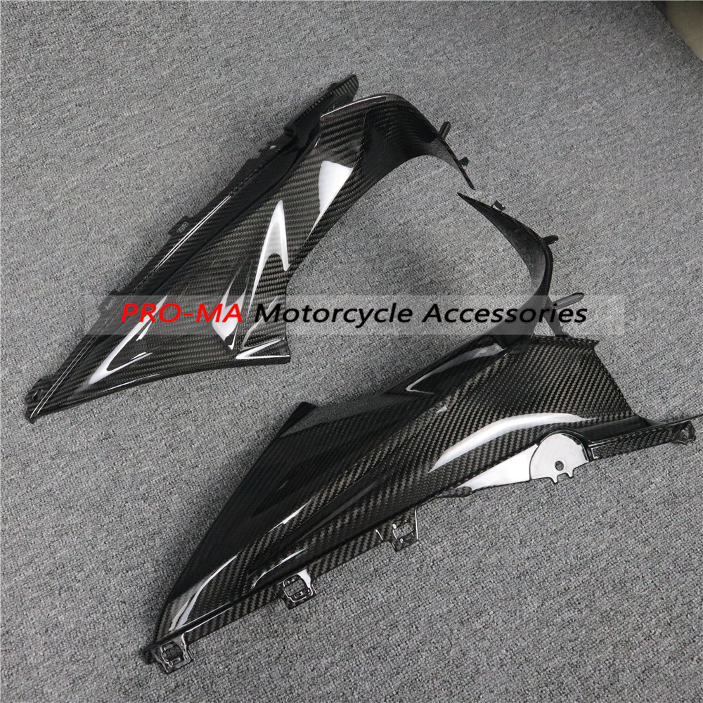 motorcycle Small side panel fairing kits in <font><b>carbon</b></font> <font><b>fiber</b></font> For <font><b>BMW</b></font> S Series <font><b>S1000RR</b></font> 2018-2019 Twill glossy weave image