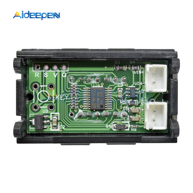 DC 0-4.3000-33.000V 5 Digit 3 Wires LED Digital Voltmeter Voltage Meter Volt Detector Tester For Car Panel Red Blue Yellow Green