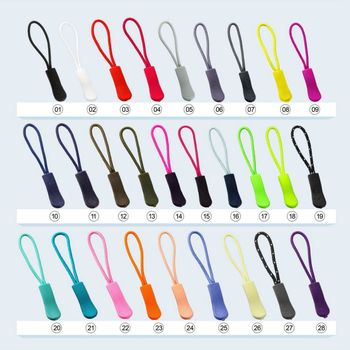 10pcs Color Zipper Pull Bag Tactical Backpack End Fit Rope Tag Fixer Zip Cord Tab Accessories Zip Puller Zipper Head image