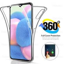 360 completa dupla capa de silicone para samsung galaxy a31 a30s corpo transparente tpu capa para samsung galax a30 a 3130s a 30 s coque