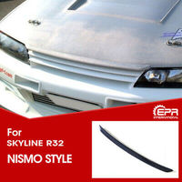 Car accessories For Nissan Skyline R32 GTS GTR Nis Style Carbon Fiber Glossy Finished Bonnet Hood Lip Exterior Body kit
