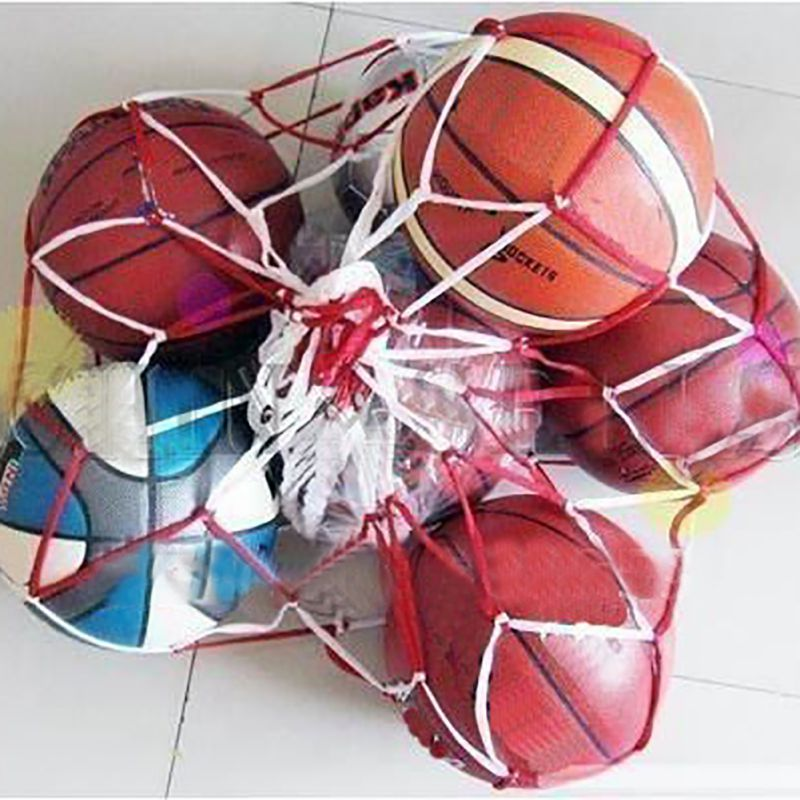 Portable Basketball Soccer Carry Bag Outdoor Sports Rope Equipment Football Balls Volleyball Ball Mesh Bag Can Hold 10 Balls ZX0