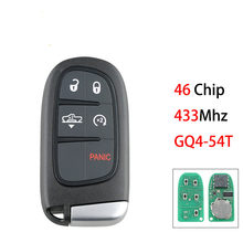 GQ4-54T 4/5 BUT Smart Car Key For Dodge Ram 1500 2500 3500 2013-2017 Car Remote Key ID46 Chip 433Mhz
