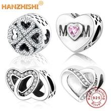 Классические бусы любовь/сердце Шарм Подходит Pandora талисманы браслет ожерелье бусины из стерлингового серебра 925 женщин DIY berloque ювелирные изделия