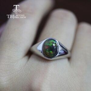 Image 5 - แหวนโอปอลธรรมชาติรูปไข่ 7*9 มม.แหวนพลอยหญิง Elegant เครื่องประดับ 925 เงินสเตอร์ลิง tbj โปรโมชั่น