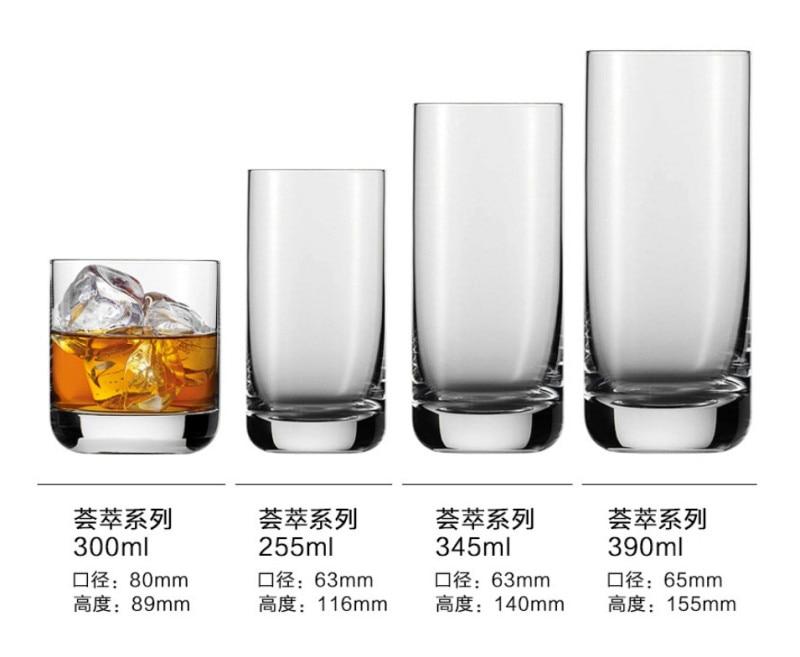 Verre прозрачный стакан бокал для вина бар аксессуары пивной коктейль с соком виски shot vinho шампанского tazas молочные чашки в видрио - Цвет: C 390ml