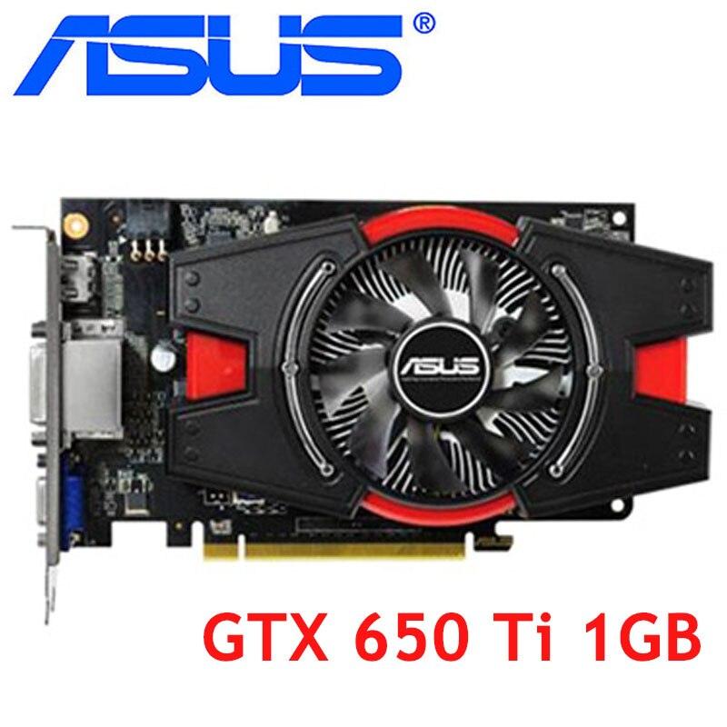 Видеокарта ASUS GTX 650 Ti 1 ГБ 128 бит GDDR5 видеокарты для nVIDIA Geforce GTX 650Ti б/у VGA карты сильнее GTX 750 650