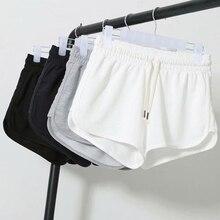 Летние повседневные шорты, женские пикантные шорты с высокой талией, женские черные, белые свободные пляжные пикантные шорты