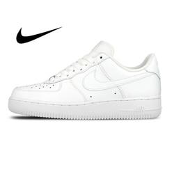 Zapatillas de Skateboard Nike AIR FORCE 1 AF1 auténticas y originales para hombre, zapatillas deportivas clásicas transpirables a la moda para exterior 315122-111