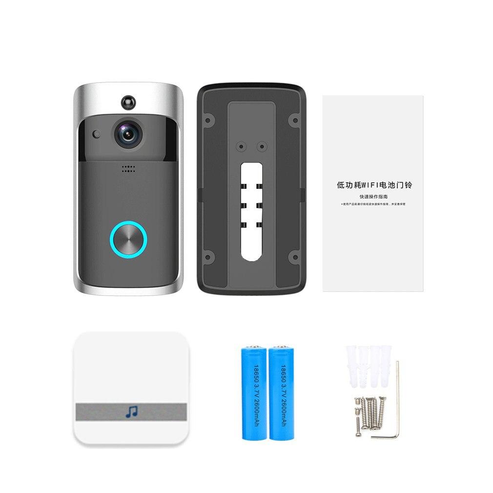 Wifi Cat's Eye Network Wireless Video Door Phone With Anti-theft Alarm Doorbell