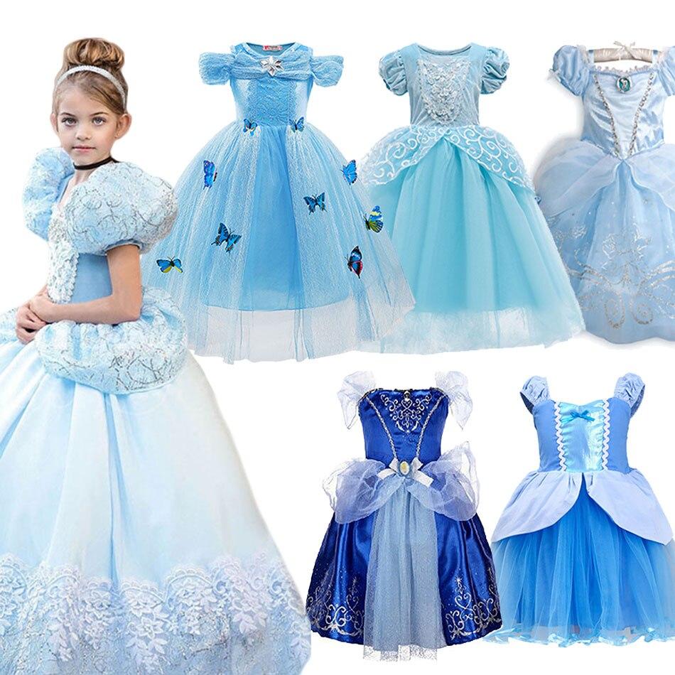 Вечерние платья Золушки на Хэллоуин для девочек; Нарядный костюм принцессы с короткими рукавами; Детский карнавальный наряд; Элегантное платье для девочек|Платья|   | АлиЭкспресс