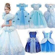 Хэллоуин вечерние платье Золушки, платье для девочек; Детская одежда с короткими рукавами праздничный костюм принцессы; Детские карнавальн...