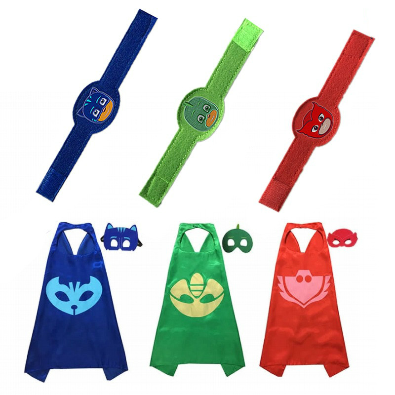 PJ MASKS Cloak Bracelet Two Layers Owlette Gekko Pj Mask Figures Anime Birthday Party Decoration Halloween Christmas Cosplay P10
