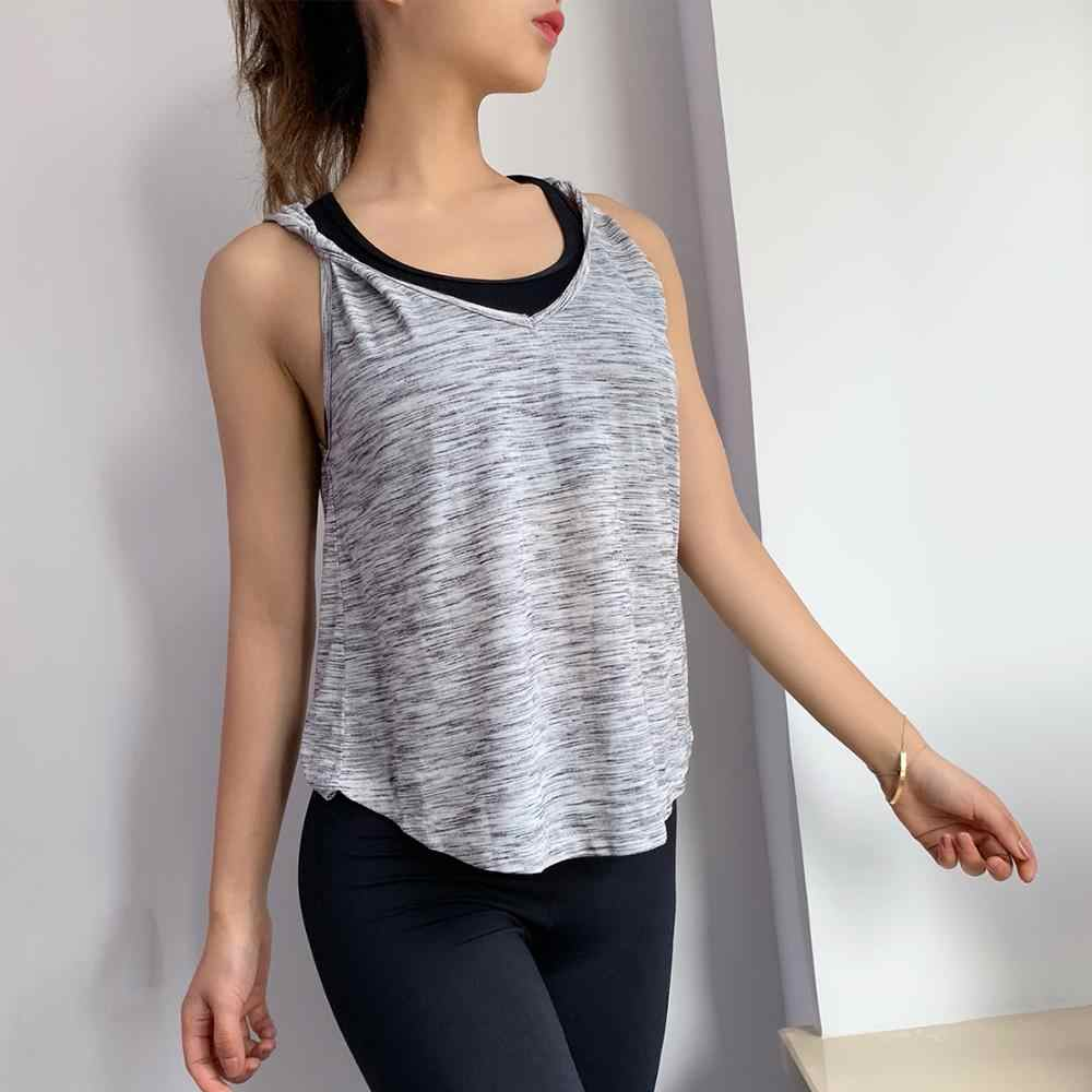 Quick Dry Fit Sexy Gym Yoga Shirt Soft Sleeveless Gym Fitness Sport Vest  Quick Dry Wicking Fitness Yoga Vest Gym Jogging Vest