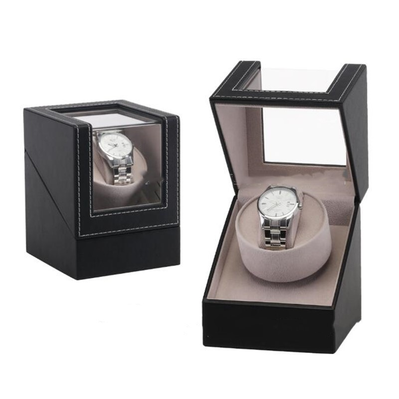 Automatic Mechanical Watch Box PU Motor Shaker Watch Winder Holder Display Jewelry Storage Organizer with EU/US/AU/UK Plug